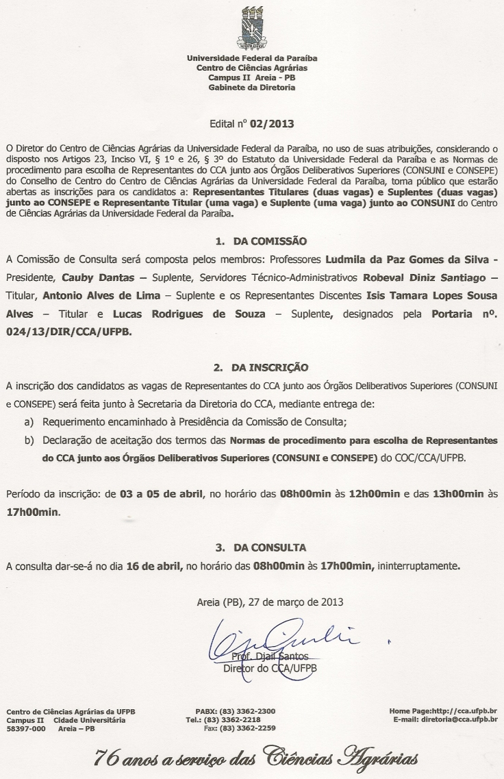 Edital nº02.2013