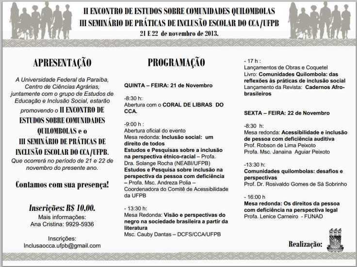 Folder Quilombola 2013