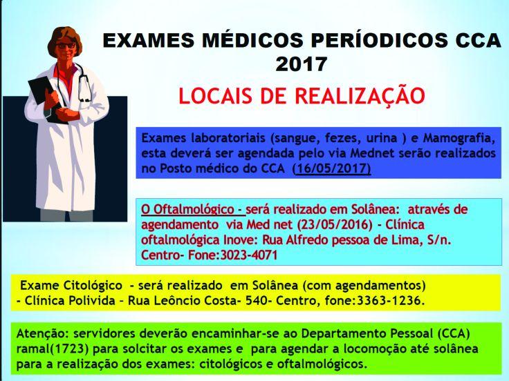 Exames cca
